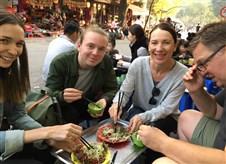Tasting street foods in Hanoi