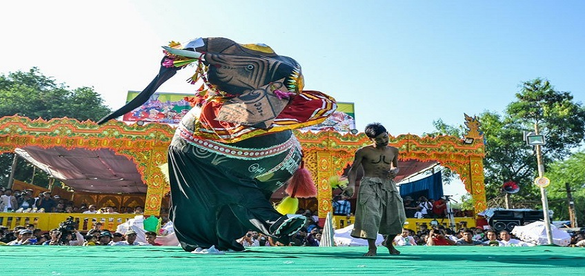 elephant dance festival myanmar travel