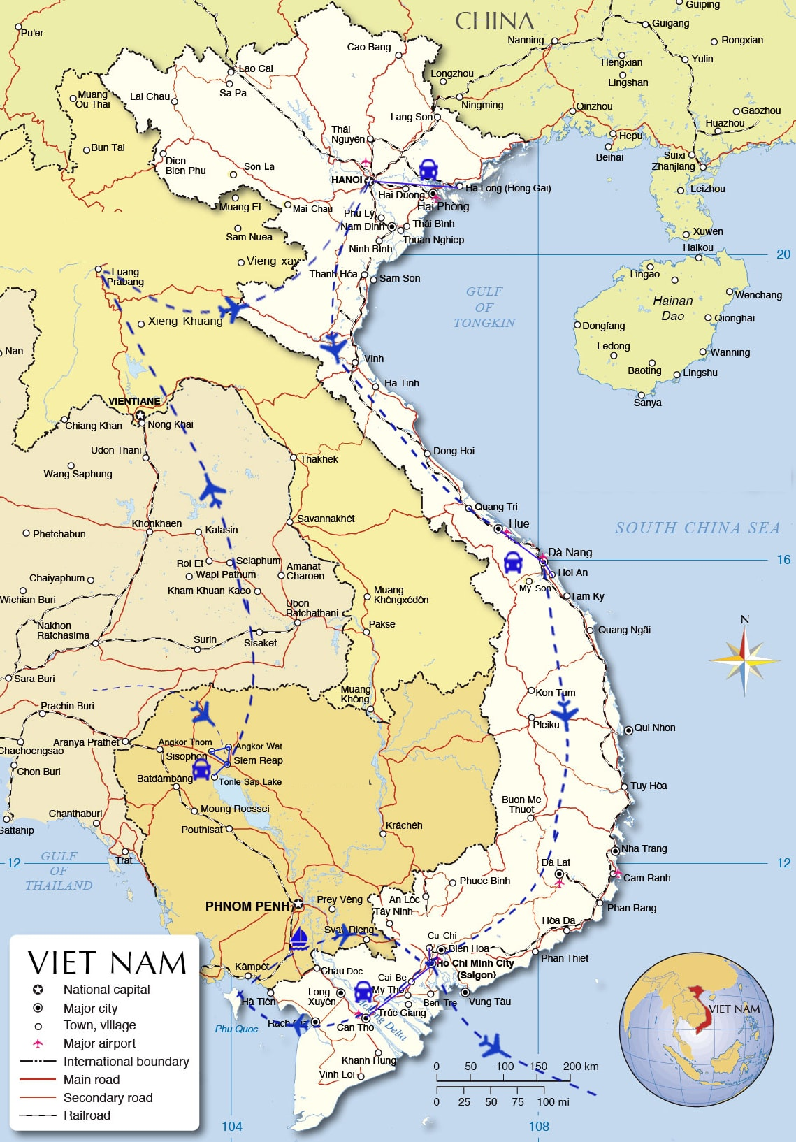 IFT01: Indochina Family Holidays - 21 days from Siem Reap map
