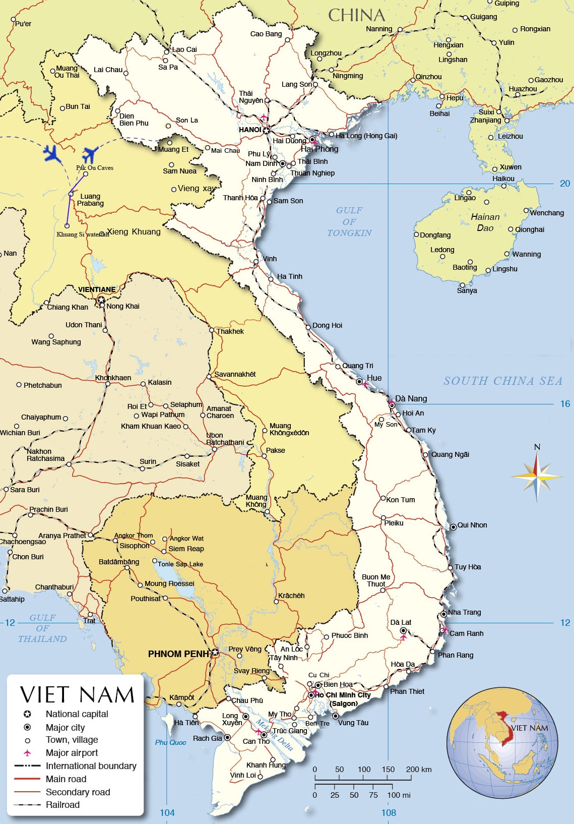 LT01: Luang Prabang Highlights - 4 days / 3 nights map