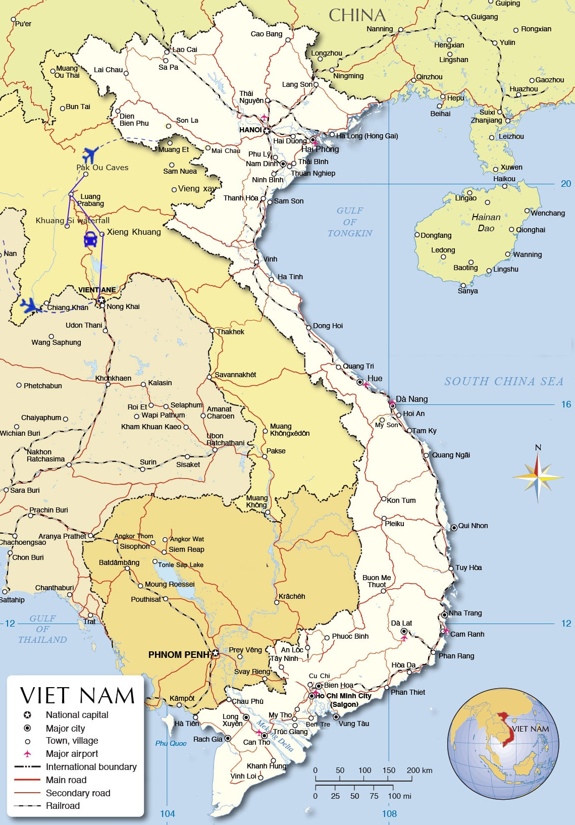 LT03: Highlights of Laos - 5 days / 4 nights map