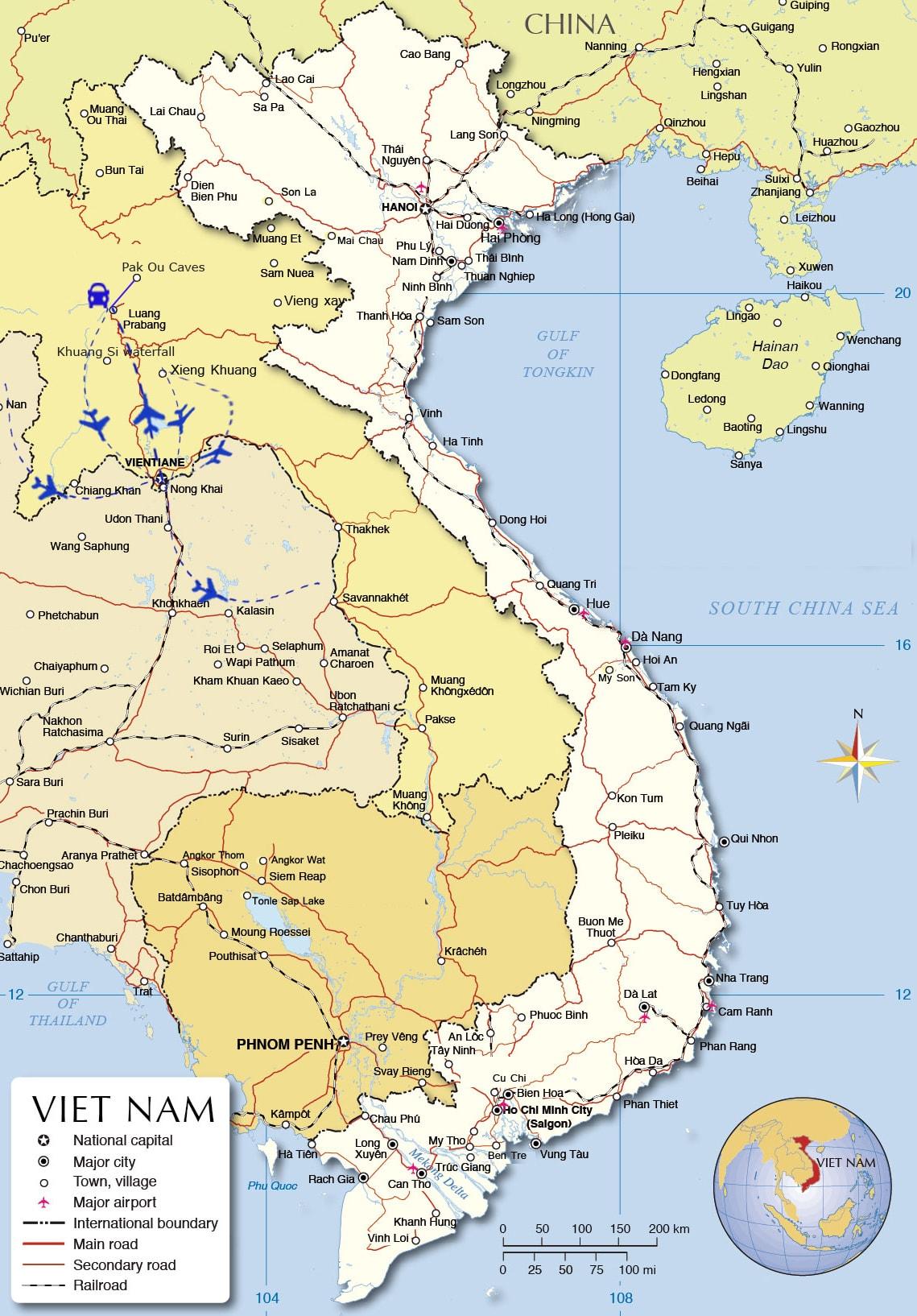 LT05: Treasure of Laos - 6 days / 5 nights map