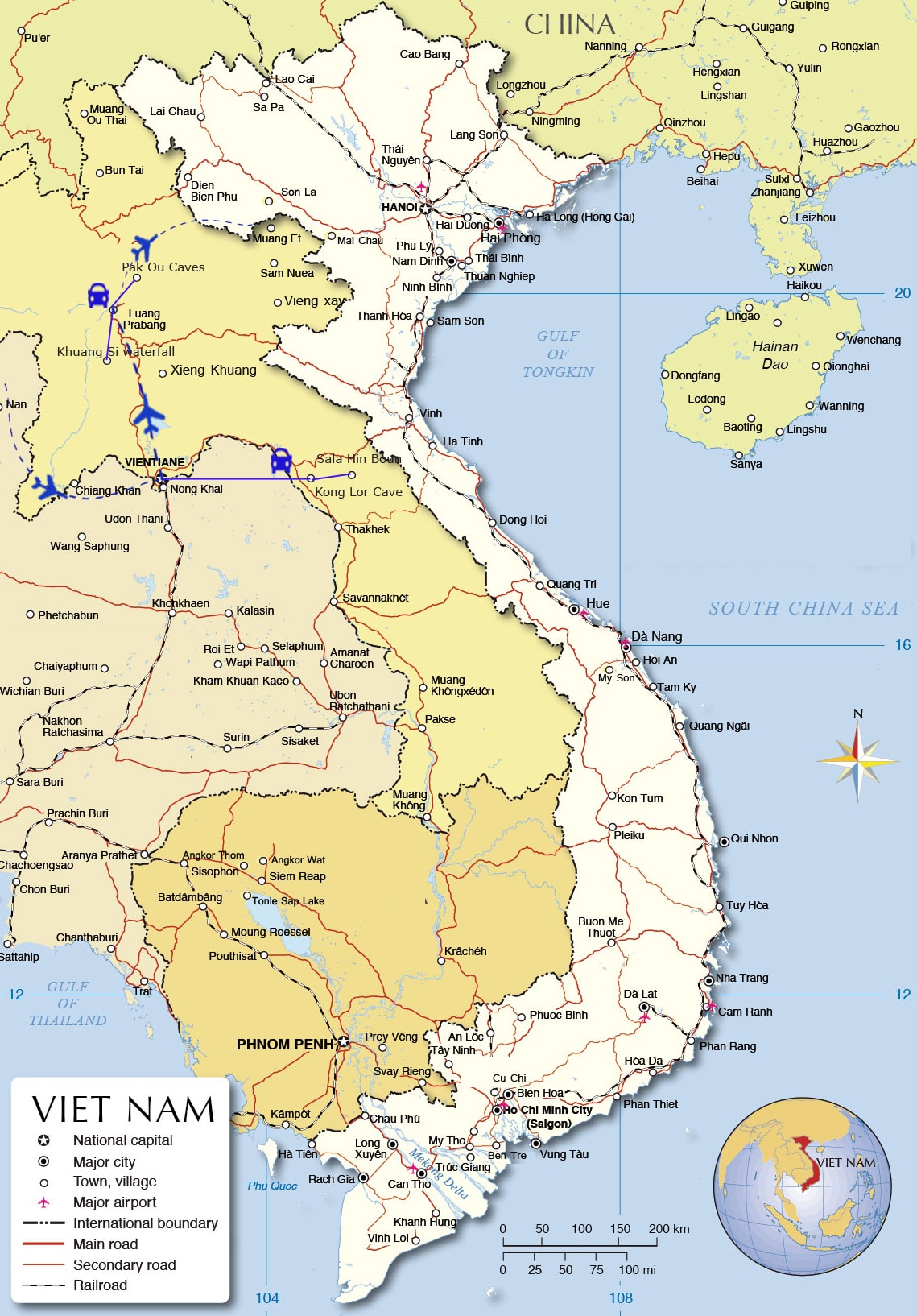 LT 06: Exploring Laos - 7 days / 6 nights map