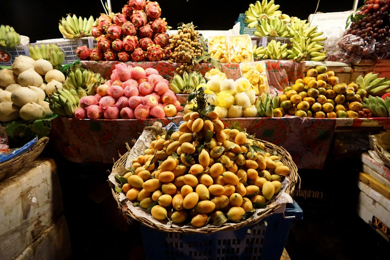 siem reap food tours night market fruit