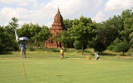 Golfing in Bagan