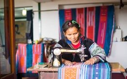 Taking H'mong Sewing Classes- Indigo Cat