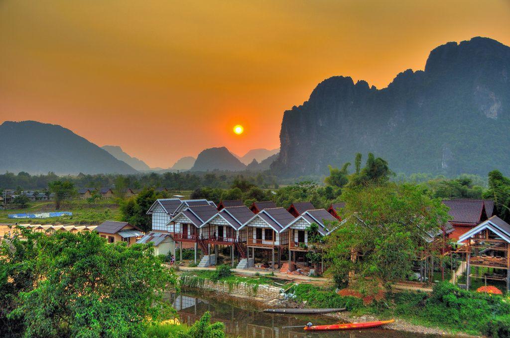 Vang Vieng Town Map   BOOKS   Map, Laos, Round the world trip   Vang Vieng Trip