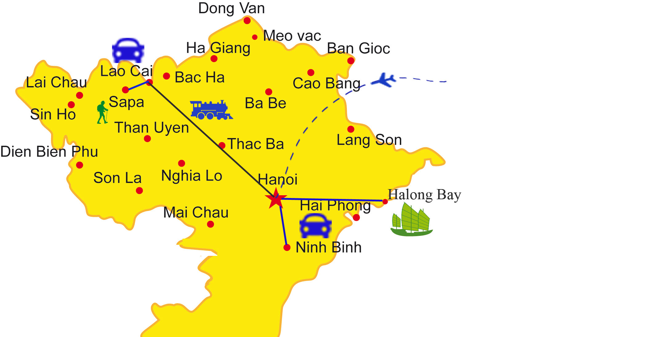 VPT01: Scenic North Vietnam - 7days/6nights map