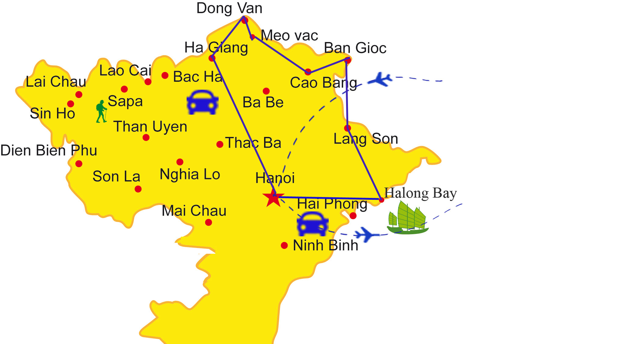 VPT03: Picturesque Northeast Vietnam - 10days/9nights map