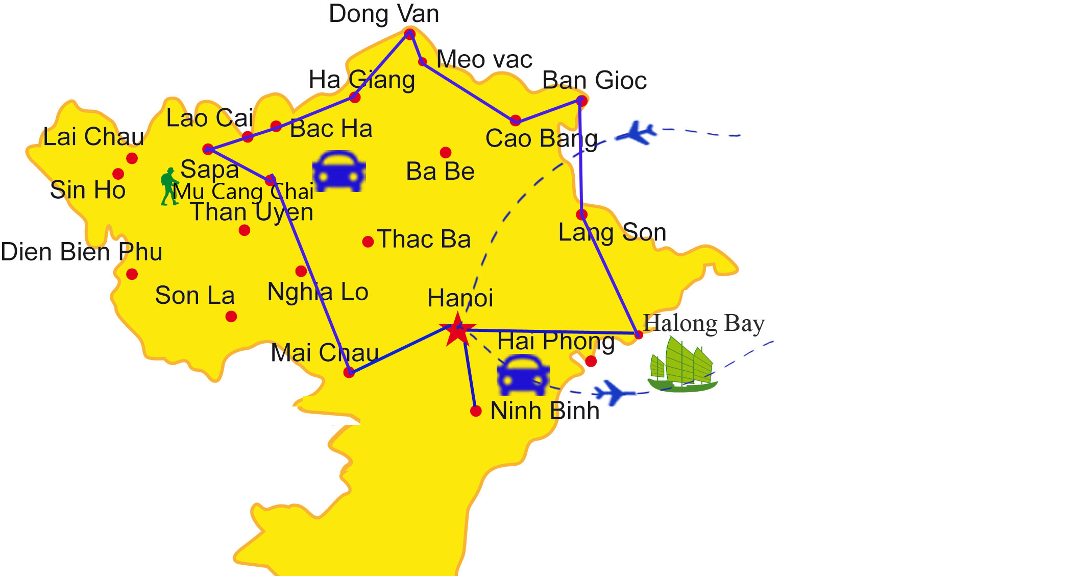 VPT04: Breaktaking North Vietnam - 18days/17nights map
