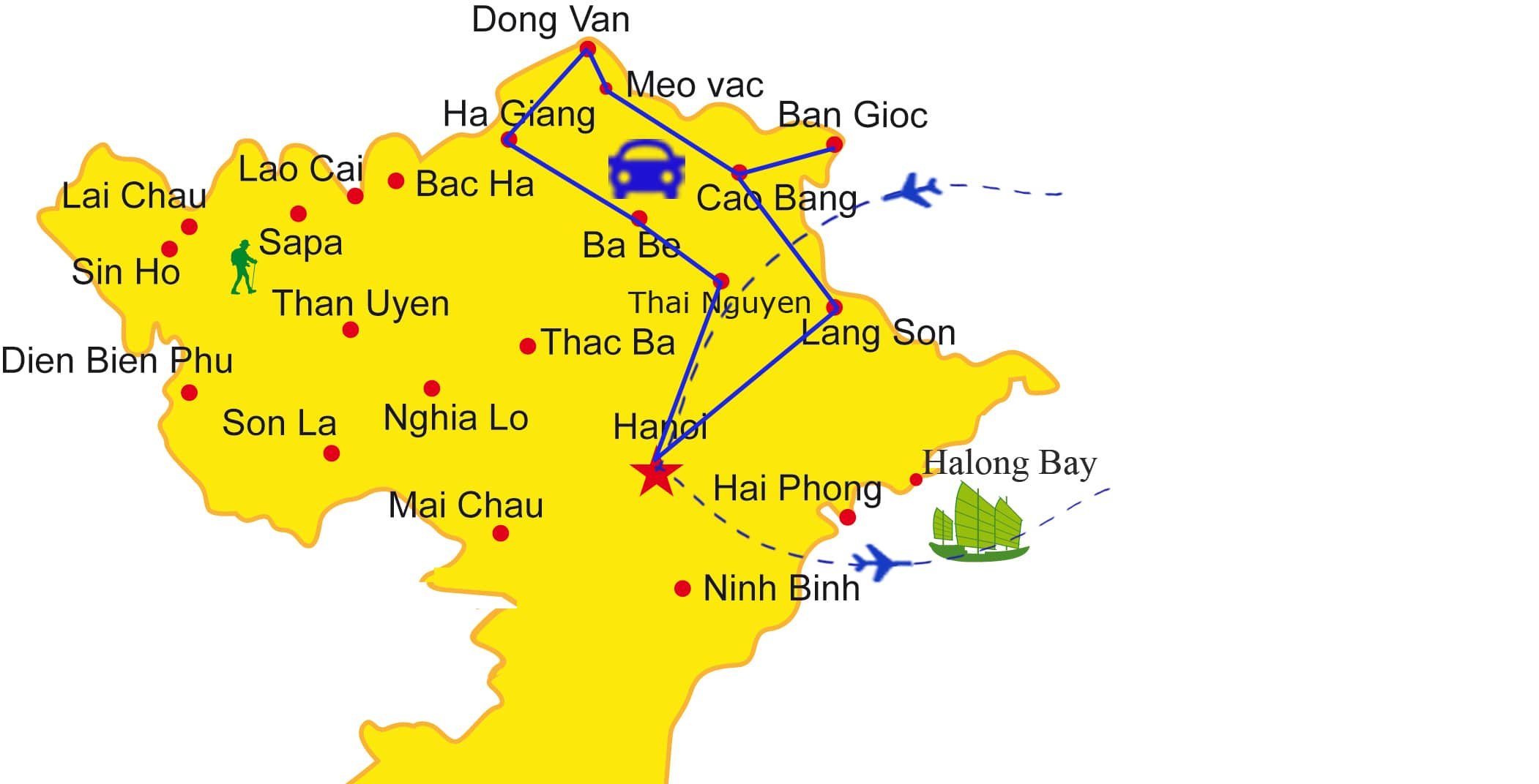 AD09: Northeast Loop - 12 days / 11 nights map