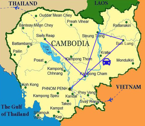 AC02: Eco Cambodia Adventure - 10 days / 9 nights map