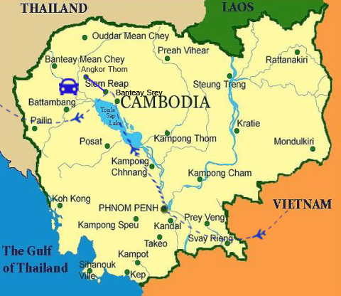 CDT02: Cambodia Heritages – 6 Days / 5 Nights map