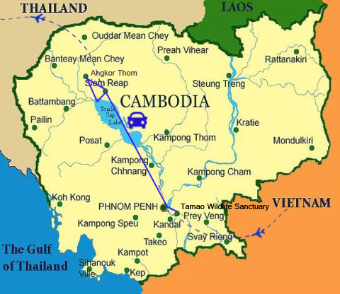 FC01: Cambodia Family Tour - 9 days / 8 nights map