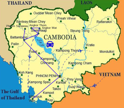 FC02: Best of Cambodia Family Vacation - 12 days / 11 nights map