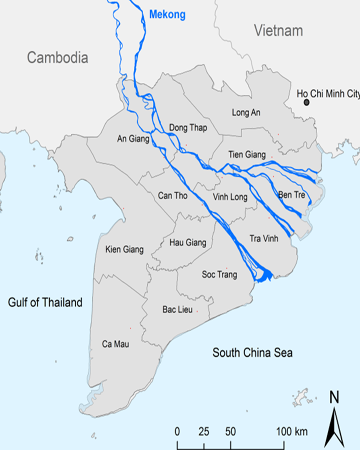 MC08: Mekong Eyes River Cruiser - 3 days / 2 nights map