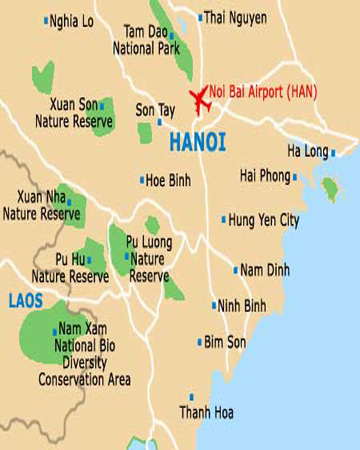 HN02: Hoa Lu – Trang An Grottoes - Daily from Hanoi map